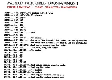 chevrolet block numbers small block chevy numbers search engine at