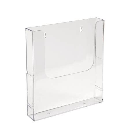 Acrylic Frame A4 single a4 brochure holder wall mounted 250 h x 225 w x