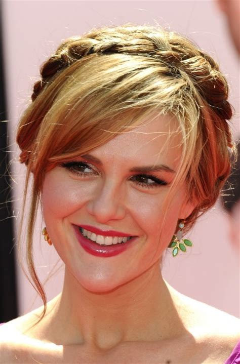 braided hairstyles with side bangs celebrity braided updo with side swept bangs hairstyles