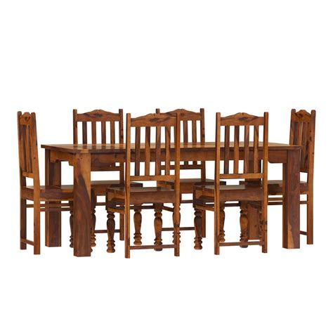 solid wood dining room chairs rustic solid wood dallas dining table with chairs set