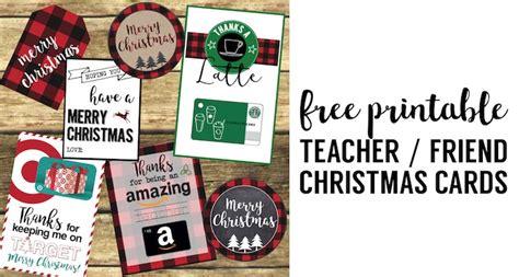 Best Family Gift Cards - best teacher christmas gift ideas paper trail design