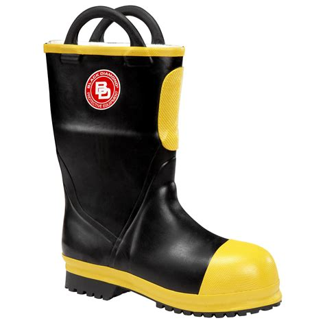 fireman boots rubber insulated firefighter boots 11 inch nfpa by black