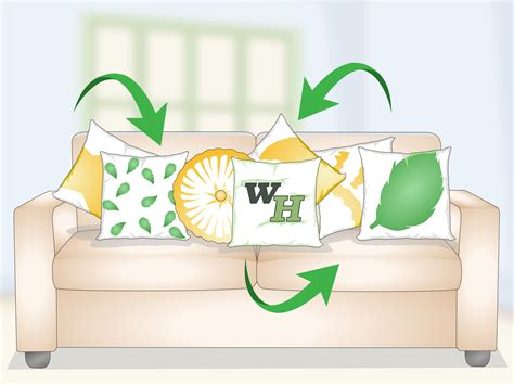 how to decorate sofa with pillows how to decorate a sofa with pillows 13 steps with pictures