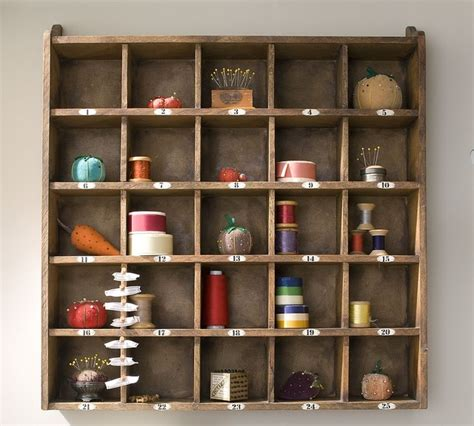 rustic wood shelf pottery barn