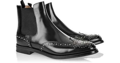 churchs studded chelsea boots  black lyst
