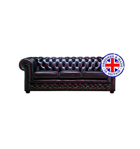 Chesterfield Designer Leather 3 Seater Sofa Chesterfield 3 Seater Sofa