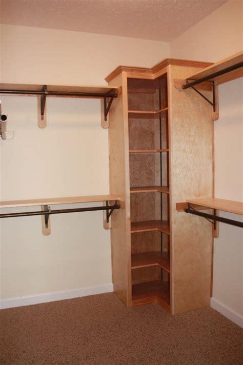 closet bar corner closet deluxe rod and shelf on corner unit for