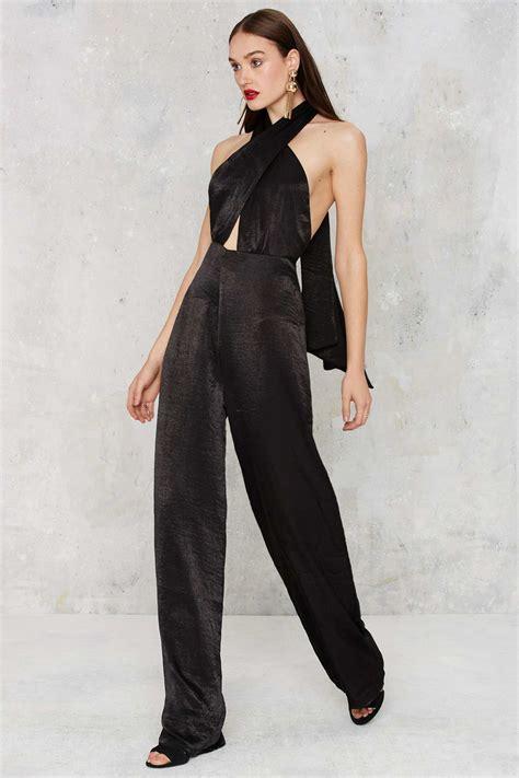 Jumpsuit Heaveni Warnablack gal heaven on earth pussybow jumpsuit in black lyst