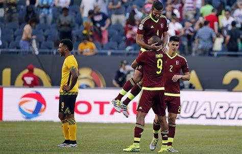 imagenes gano venezuela venezuela gan 243 1 0 a jamaica en partido por la copa