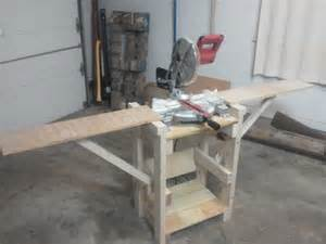 How To Build A Miter Saw Table by Diy Build Miter Saw Table Plans Free