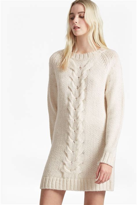 knitting pattern jumper dress high ridge cable knit jumper dress collections french