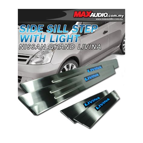 Door Sill Plate Livina With L Stainless buy nissan grand livina 2006 2017 stainlesssteel led door side sill step from taiwan