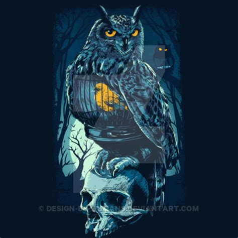 design by humans print quality owlandskull by design by humans on deviantart