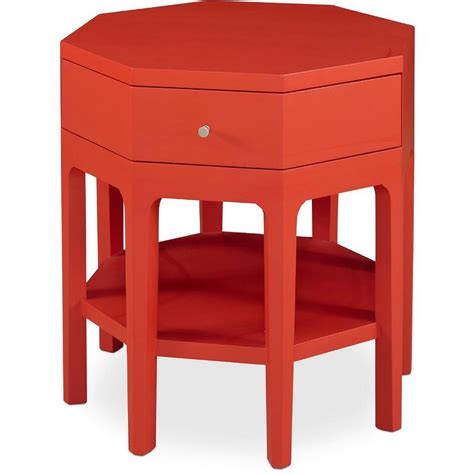 red accent tables somerton dwelling improv in g red octagon accent table