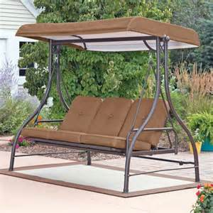patio swing set with canopy 3 seat swing with canopy