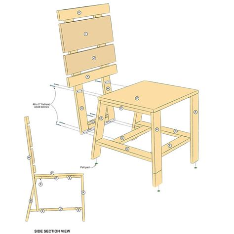 Wooden Dining Chair Plans Build A Stylish Dining Chair