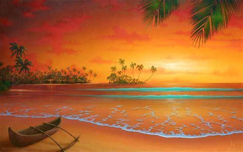 beautiful sunrise sunset  moon paintings