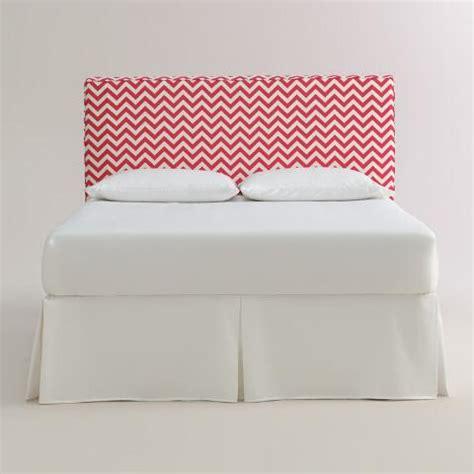 coral headboard coral zigzag loran upholstered headboard world market