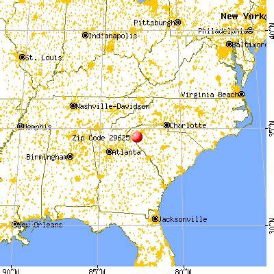 29625 zip code (centerville, south carolina) profile
