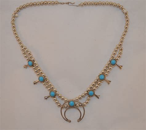 squash blossom turquoise necklace lawton gold exchange