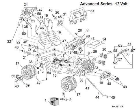Jeep Wrangler Parts Diagram Power Wheels Jeep Wrangler Restage Parts
