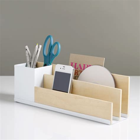 Modern Desk Tidy Portola Desk Organizer White Minimalist And Tidy Minimalist Desk Design Ideas