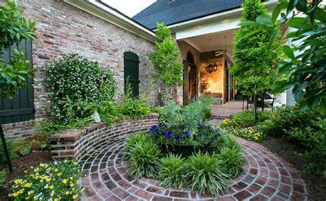 Gartenideen Terrasse garten landschaftsbau mit ziegeln 15 tolle