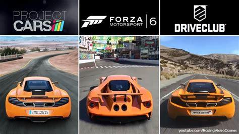 Bd Kaset Xbox One Forza 6 Xboxone forza 6 vs driveclub vs project cars graphics