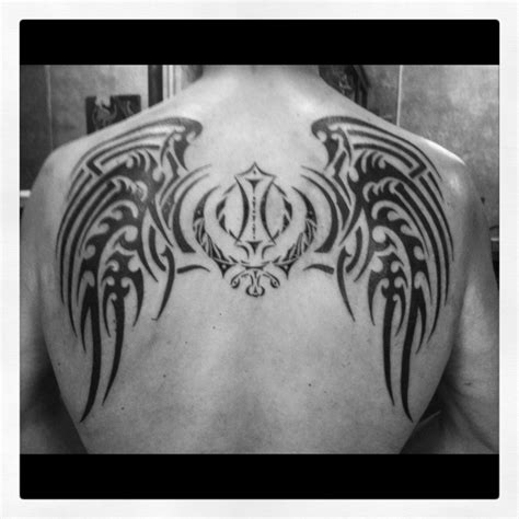 centerline tattoo my back october 2012 center symbol is the sikh