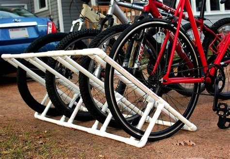 diy bike rack pvc diy bike rack weekend projects bob vila
