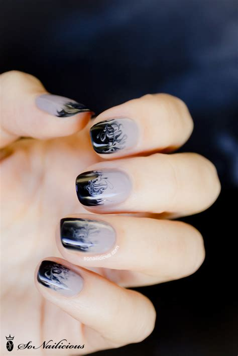 easy nail art ombre cloudy ombre nails 28 days of sonailicious nails day 19