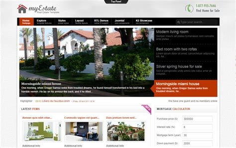 real estate joomla template free 15 best joomla templates for real estate websites