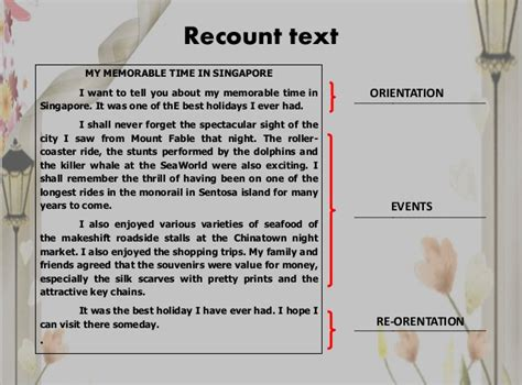 recount text biography terbaru contoh recount text holiday in beach singkat