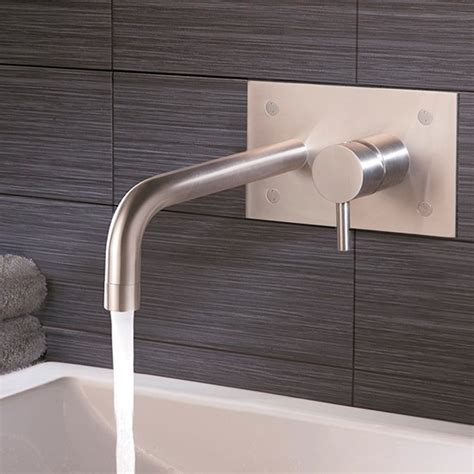 best bathroom taps uk inox single lever wall mounted bath filler from just taps plus bath taps