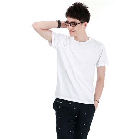 Kaos T Shirt Murah Tji5 kaos polos katun pria o neck size m 86102 t shirt white jakartanotebook