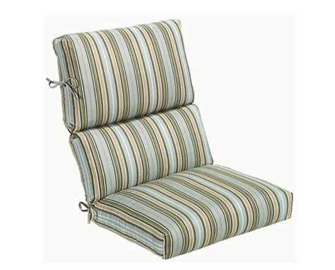 high back outdoor patio chair cushion cilantro stripe deck