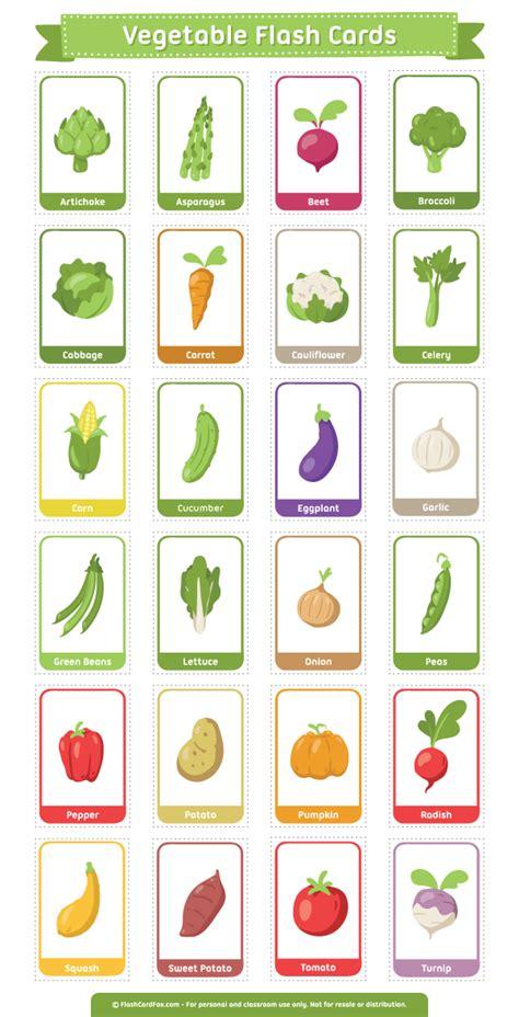 vegetable flashcards printable free printable vegetable flash cards download the pdf at