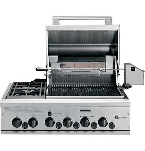 gas cooktop with grill 36 ge monogram 174 36 quot outdoor cooking center with 2 grill