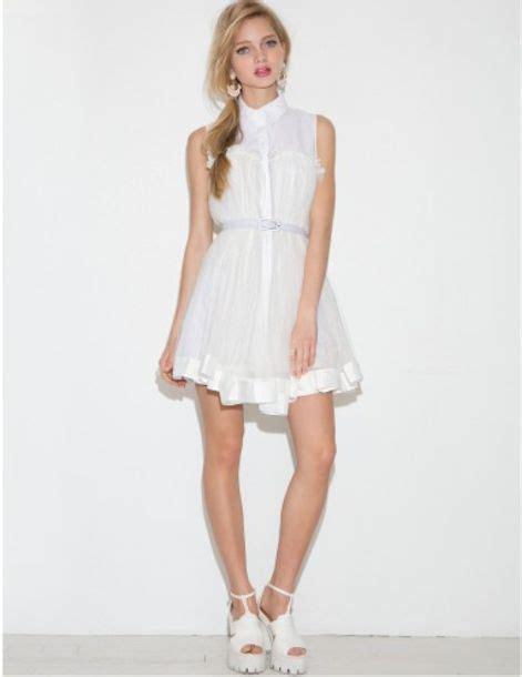 baby doll fashion look dress white white dress summer summer dress