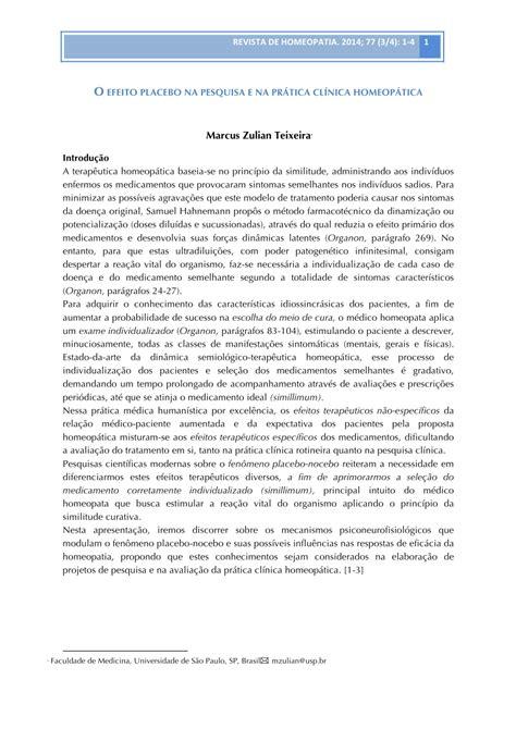 placebo effect research paper talk show pesquisa em homeopatia o pdf