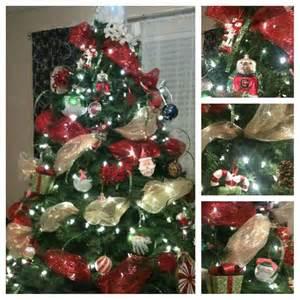 christmas tree mesh ribbon crafts pinterest