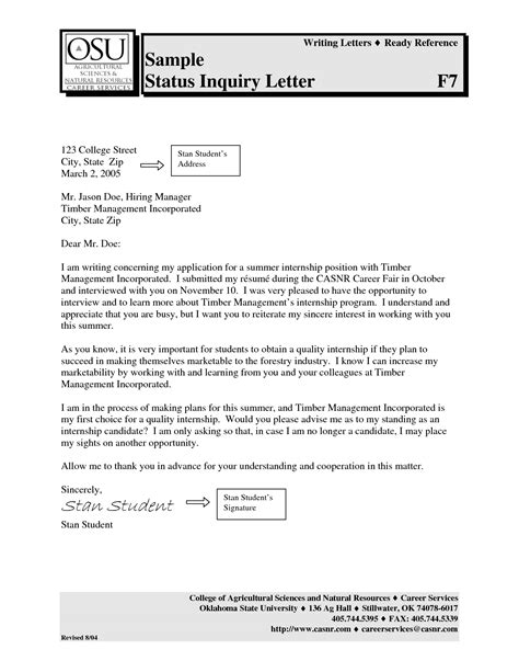 sample professional letter formats job application cover examples of