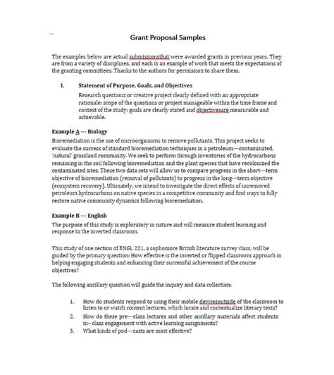 40 Grant Proposal Templates Nsf Non Profit Research ᐅ Template Lab How To Write A Grant Template