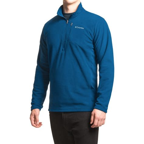 Sleeve Zip Accent T Shirt columbia sportswear lost peak fleece shirt for