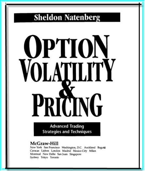option volatility pricing workbook practicing advanced trading strategies and techniques books collection of trading books option volatility