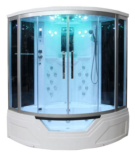 bathtub steam shower combo 59 quot eagle bath ws 703 steam shower sauna enclosures w whirlpool bathtub combo unit