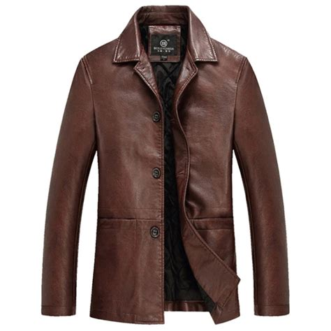 Erna Jaket Supplier Distributor Temurah aliexpress buy high quality thicker winter leather jacket mens leather jackets and