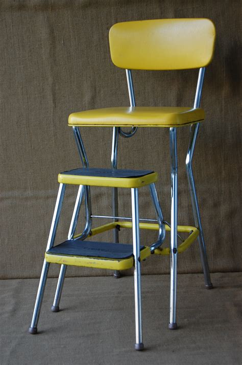 vintage cosco metal step stool vintage metal cosco step stool chair kitchen stepstool