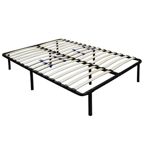 Metal Platform Bed Frame Wood Slats Size Queen King Slatted Bed Frame