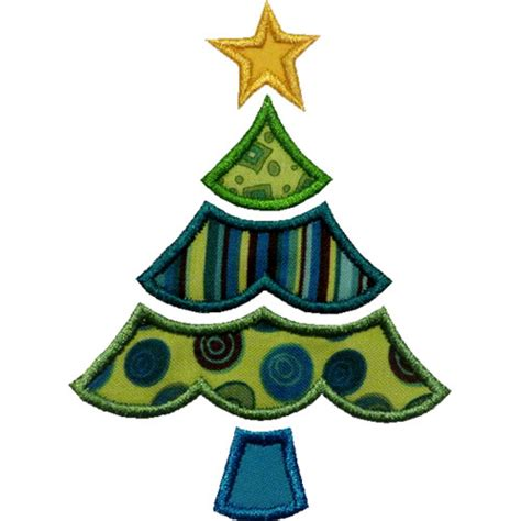 scalloped christmas tree applique design